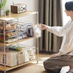 구디푸디 서랍식 투명 옷장 다용도 팬트리 수납정리함 리빙박스