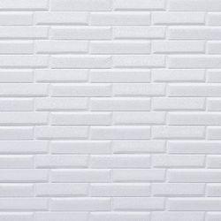 3D 압축  무늬목 단열시트지 White Oblique Brick