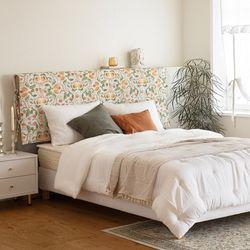 누보 플라워 헤드보드 커버 K+침대용 200x140