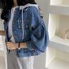 [무료배송] M Denim Hood Puff Crop Jacket