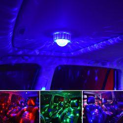 음악소리에 반응하는 충전식 휴대용 LED 미러볼 디스코 파티조명