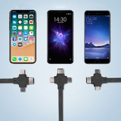 3단 합체 케이블 휴대폰 다용도 충전선