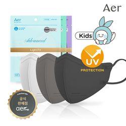 아에르 어드밴스드 라이트핏 키즈 KF80 마스크 10매 3컬러 택1