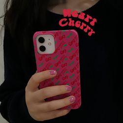 [뮤즈무드] heart cherry 아이폰케이스
