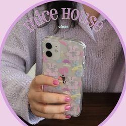 [뮤즈무드] mice house (clear) 아이폰케이스