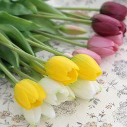 튤립 조화 부케 5p(조화 꽃)