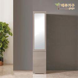 예투가구 보우터치 2문 틈새 수납 옷장 거울