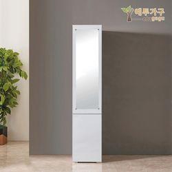 예투가구 보우터치 2문 틈새 수납장 거울