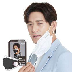 국산 KF-AD 투와이어 힐타임 마스크 블랙투톤 50매