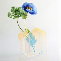 인테리어 꽃병 홀로그램 아크릴 예쁜화병 H