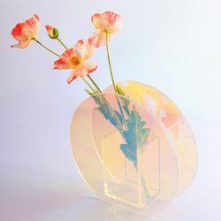 인테리어 소품샵 오브제 홀로그램 아크릴 꽃병 C