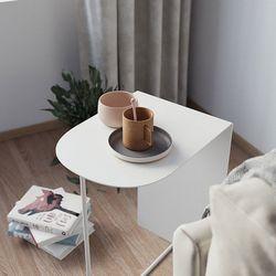이츠미 밀리 컴팩트 스틸 테이블 디자인 테이블