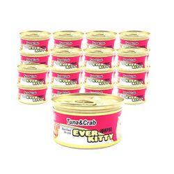 에버키티 캔 - 참치 게살 80g 1박스 (24개)통조림간식참치캔캔