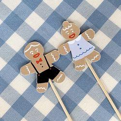 쿠키 웨딩 디자인 케이크 토퍼
