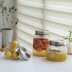 이시즈카 밀폐 과일청 유리병 저장용기-1리터