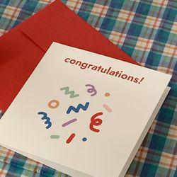 콩그레츄레이션 클로버 축하 카드