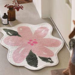 핑크꽃 발매트