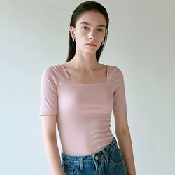 SQUARE NECK SILM KNIT_PINK(ITEMLQ4P32Z)