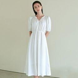 SHIRRING LONG DRESS_WHITE(ITEMCTCQTI9)