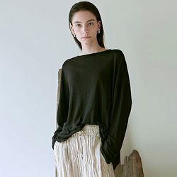 CASUAL BOAT NECK TOP_BLACK(ITEMM0STMQ1)