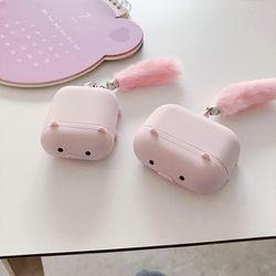 핑크 돼지 실리콘 에어팟 케이스 1 2 세대 프로