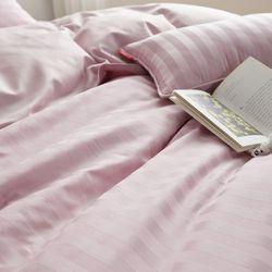 PRO모달 초광폭 2cm라인 보들보들한 이불커버S 핑크