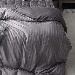PRO모달 초광폭 2cm라인 보들보들한 이불커버Q 4컬러