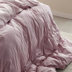PRO모달 초광폭 2cm라인 부드러운 누빔이불커버Q 핑크