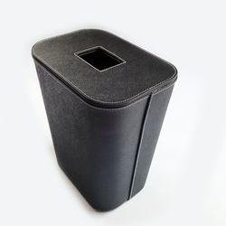 가죽 휴지통 8리터 (뚜껑형)