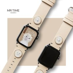 [MR TIME x Pets Rock] 펫츠락 콜라보 시계줄 다이아몬드 베이지