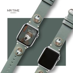 [MR TIME x Pets Rock] 펫츠락 콜라보 스마트 시계줄 탐정 그린