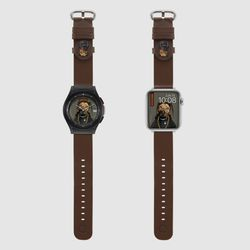 MR TIME 펫츠락 콜라보 스마트 시계줄 랩 브라운 갤럭시워치4