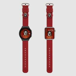 MR TIME 펫츠락 콜라보 스마트 시계줄 팝 레드 갤럭시워치4
