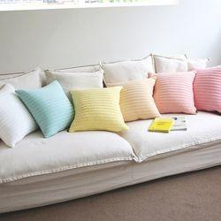 파스텔 모달 누비 쿠션 (6colors)