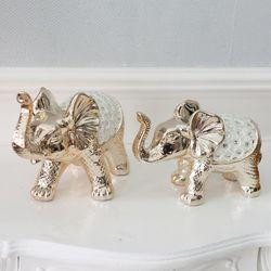 데일리데코 로시 코끼리 장식 2개 1세트 인테리어소품 장식소품