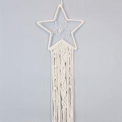 에스닉 별 마크라메 드림캐쳐 월행잉 벽걸이 장식소품
