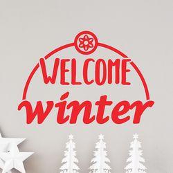welcome winter 겨울 레터링 인테리어 스티커 small