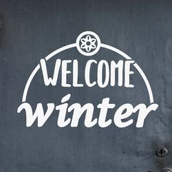 welcome winter 겨울 레터링 인테리어 스티커 medium