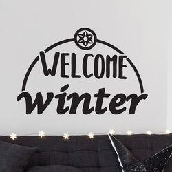 welcome winter 겨울 레터링 인테리어 스티커 large