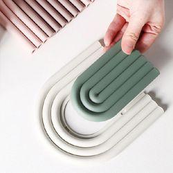 냄비 접시 실리콘받침대 U라인 멀티받침대 2개세트