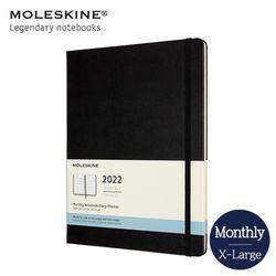 몰스킨 2022 먼슬리 12개월 다이어리 하드커버 XL 블랙