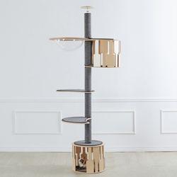 알루미늄캣폴 캣폴 (언더하우스+발판2개+하우스+해먹)