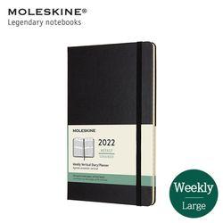 몰스킨 2022위클리(세로형) 12개월 다이어리 HD 라지 블랙