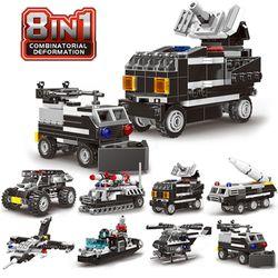 미니 블럭 SWAT 경찰특공대 8종 세트블록 블랙 (CBT111348)