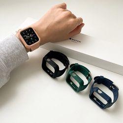 시계 애플워치 실리콘 케이스 일체형 부드러운 스트랩