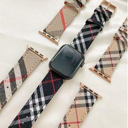 시계 애플워치 타탄체크 선물용 트렌디 편한 스트랩