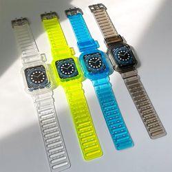 시계 애플워치 비비드 일체형 투명한 델리 스트랩