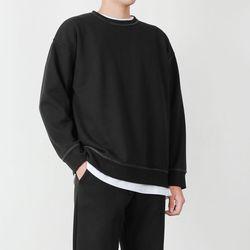 남자 헤비맨투맨 무지 오버핏 스웨트셔츠