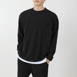 남자 레이 무지 포켓티셔츠