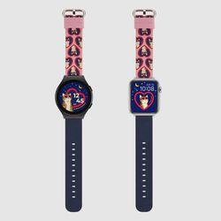MR TIME 위글위글 콜라보 스마트 시계줄 Cat 갤럭시워치4